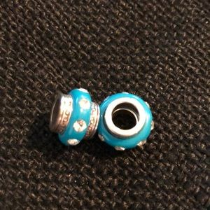 Brighton beads with crystals. Turquoise color